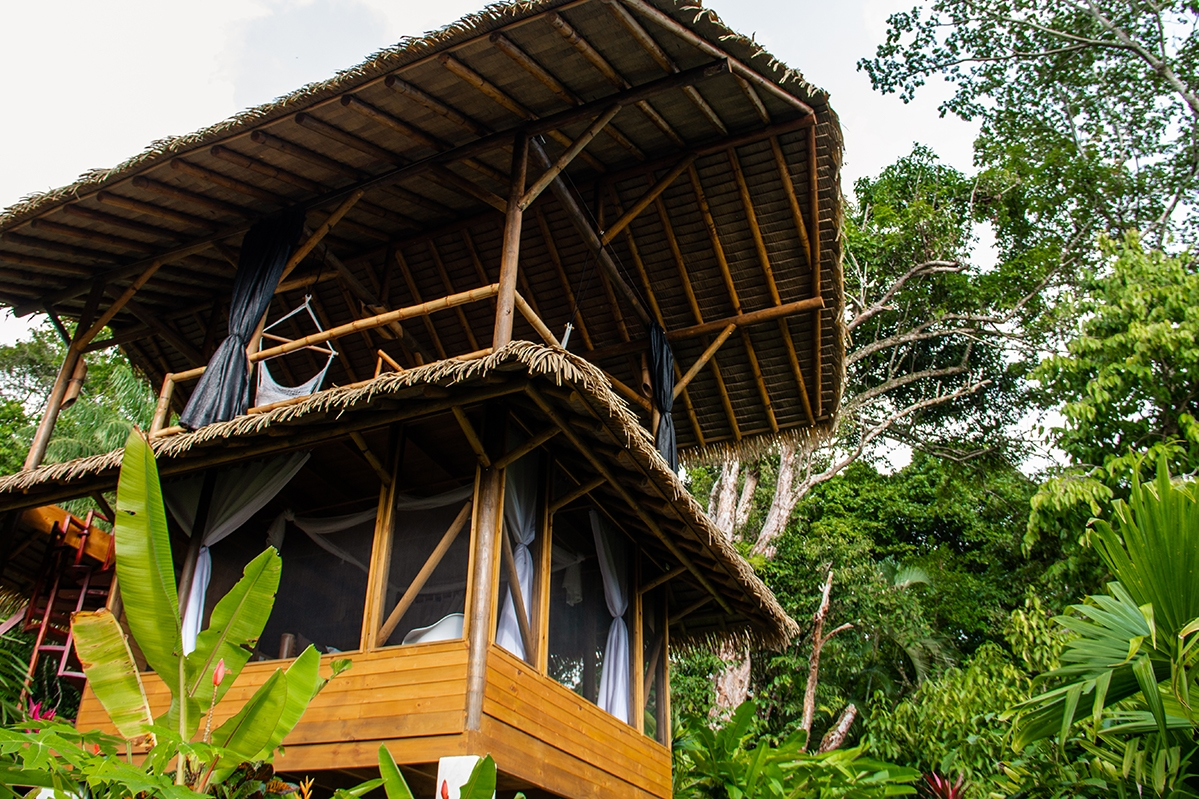 Bamboo house at Sola Vista Eco Lodge Costa Rica hotel