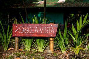 Sola Vista Eco Lodge entrance Punta Banco
