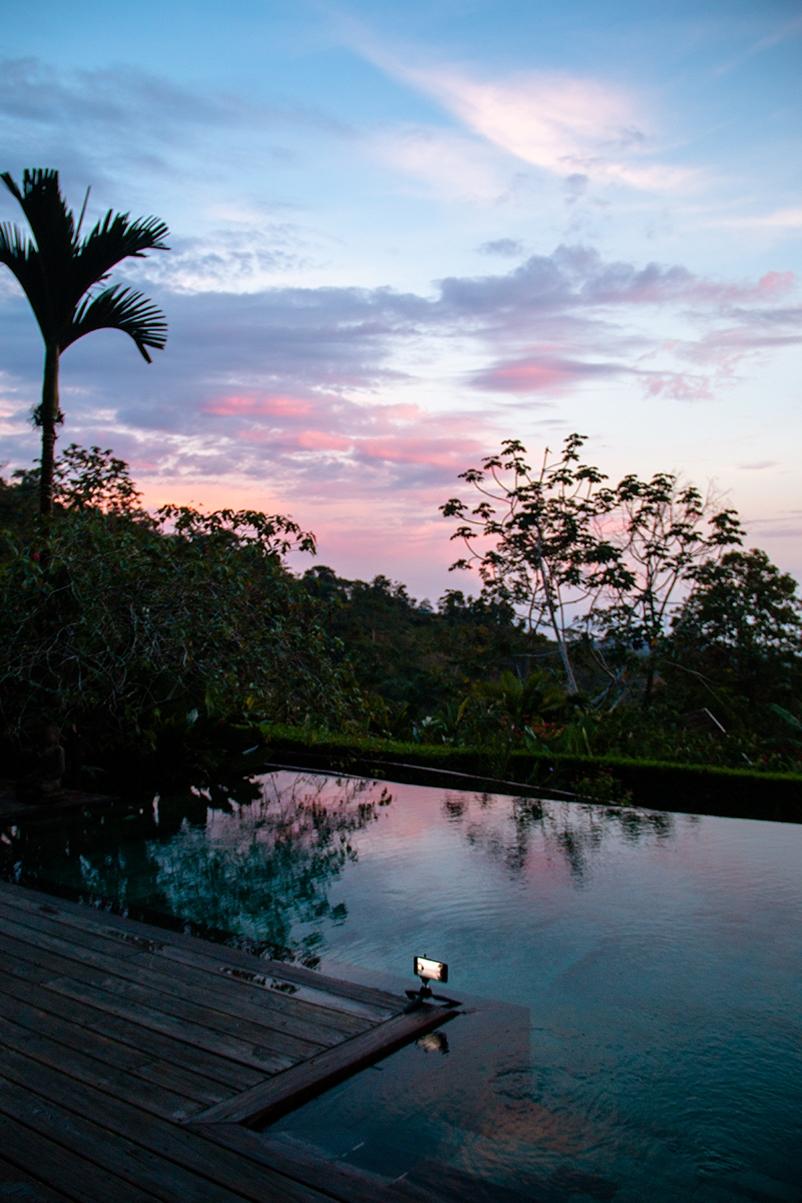 Sunset at Oxygen Jungle Villas Uvita