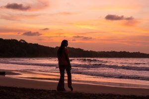 Sunset at Playa Manzanillo Costa Rica