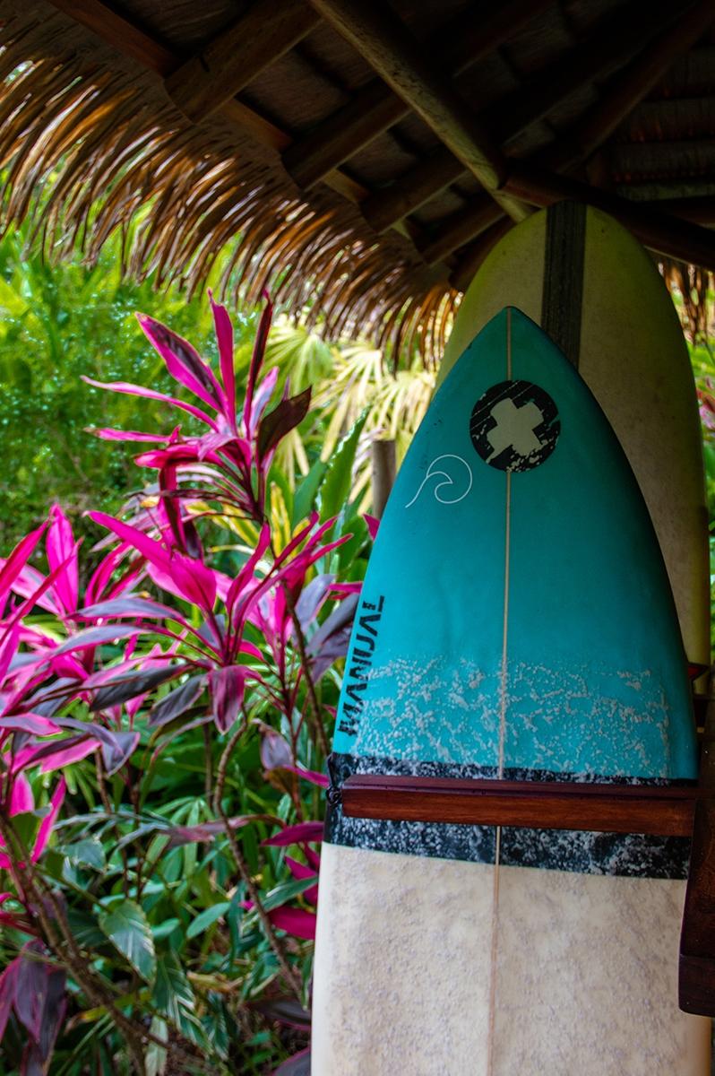 Surfboards at Sola Vista Eco Lodge Punta Banco