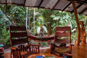 Terrace at Congo Bongo hotel in Costa Rica