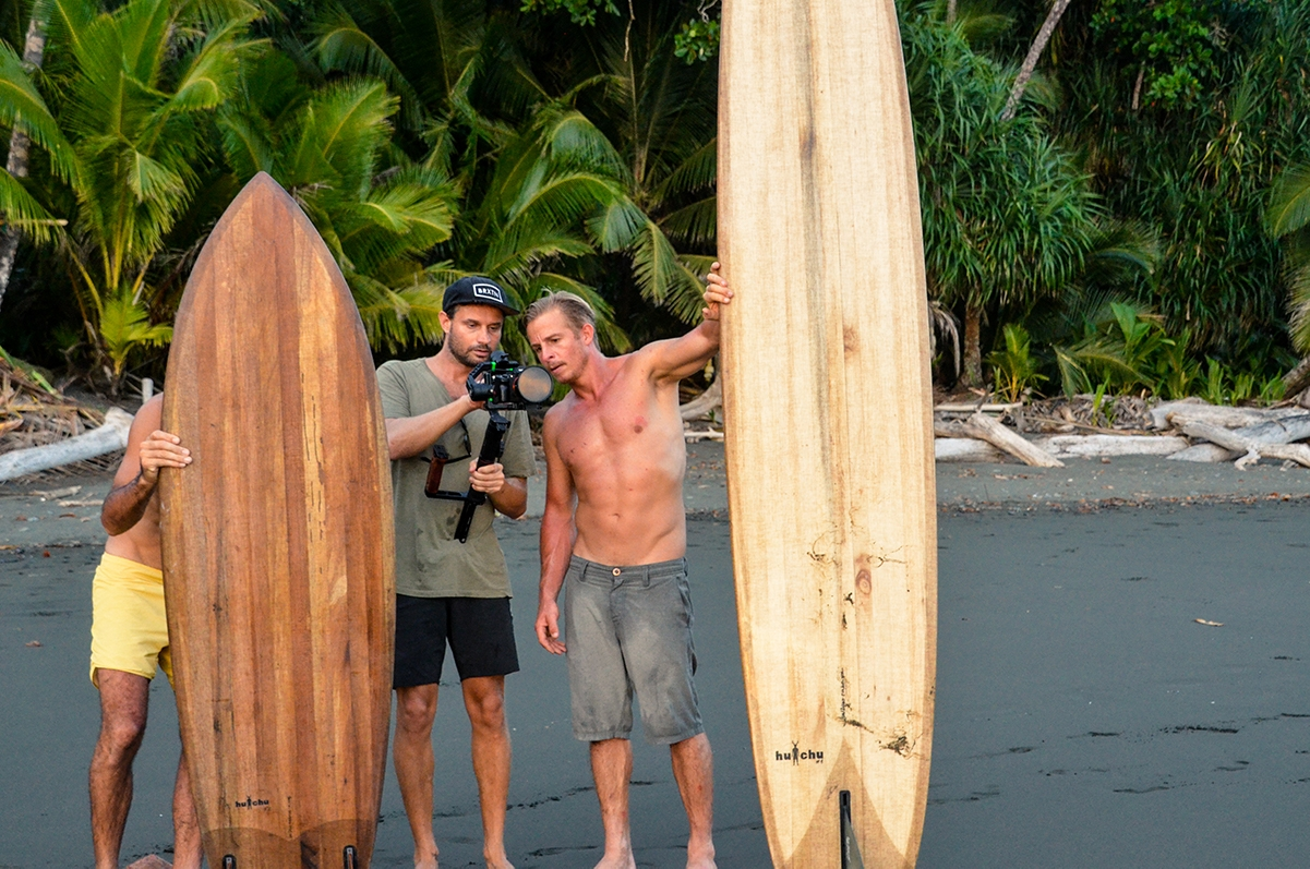 Video production for Huchu surfboards in Costa Rica