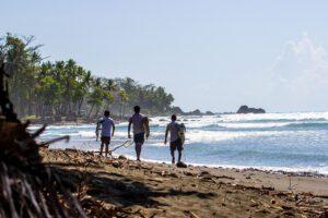Local surfer boys in Pavones Costa Rica