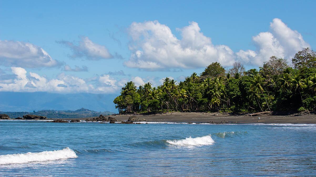 Pavones beach in Costa Rica