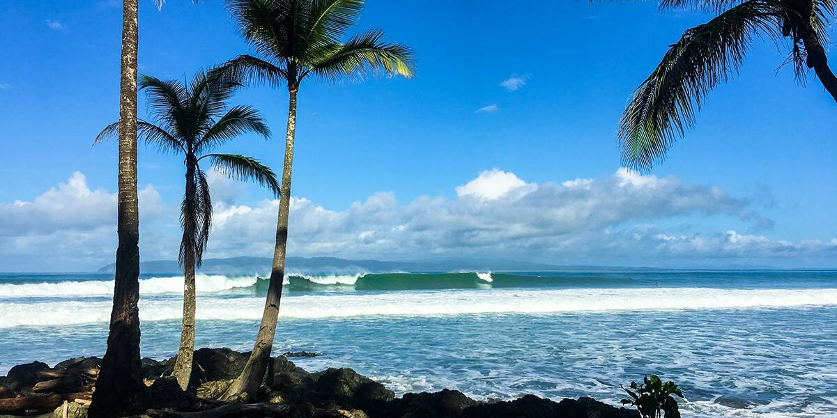 Pavones wave in Costa Rica