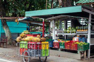 Fruit shop in Puerto Viejo Costa Rica