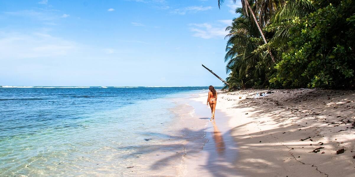 Paradise beach in Cahuita National Park in the Caribbean Costa Rica