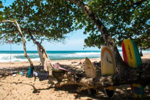 Playa Cocles on the Caribbean of Costa Ria