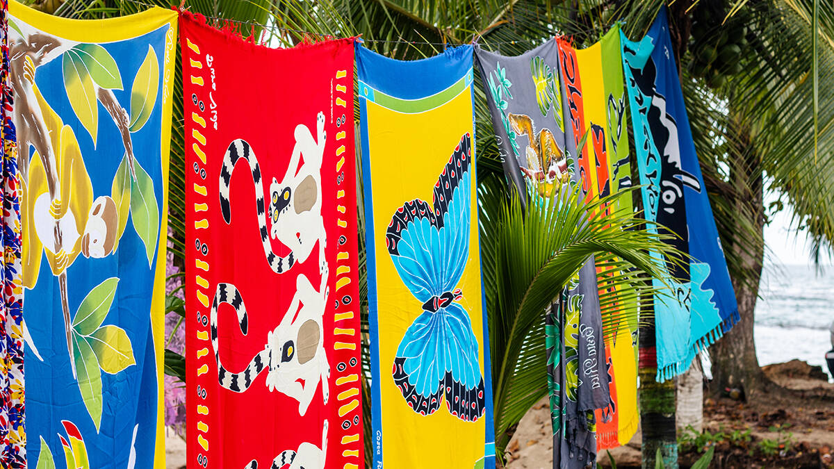 Sarongs in Puerto Viejo Caribbean side of Costa Rica