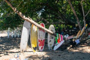 Surfboard rental on Playa Cocles in the Caribbean Costa Rica