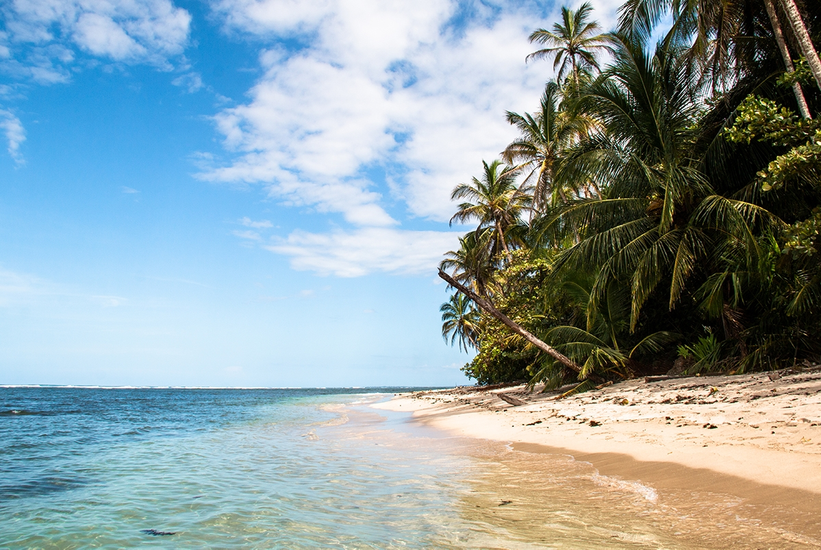 Tropical beach in Cahuita National Park Costa Rica