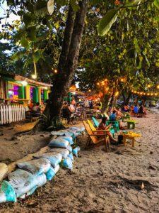 Beach bar in Puerto Viejo Costa Rica