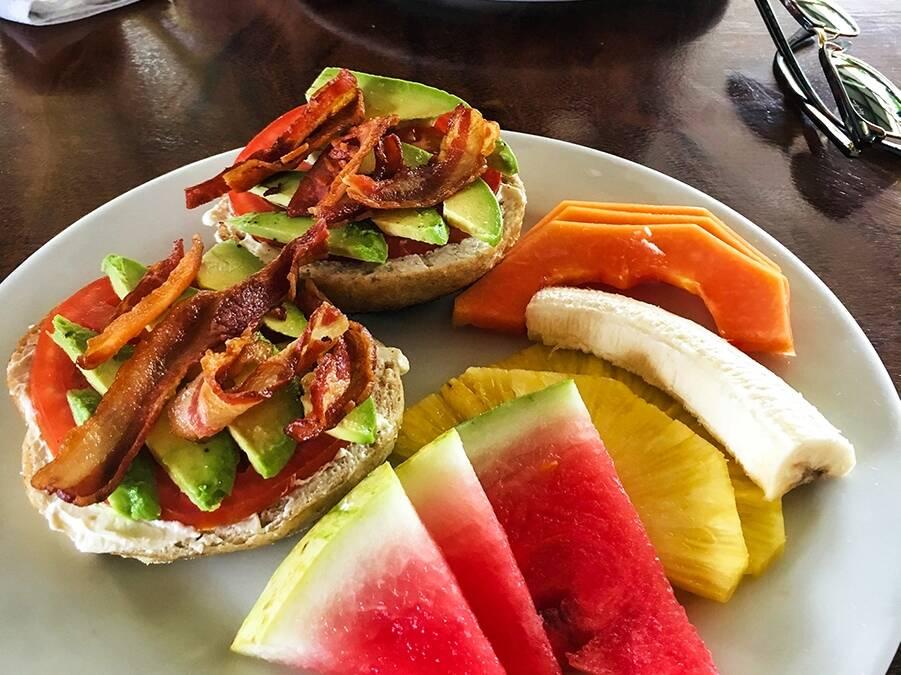 breakfast at Bread & Chocolate in Puerto Viejo Costa Rica