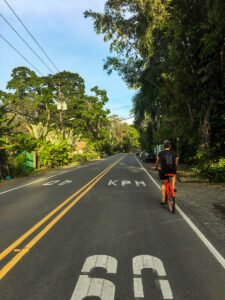 Cycling on the Caribbean coast of Costa Rica