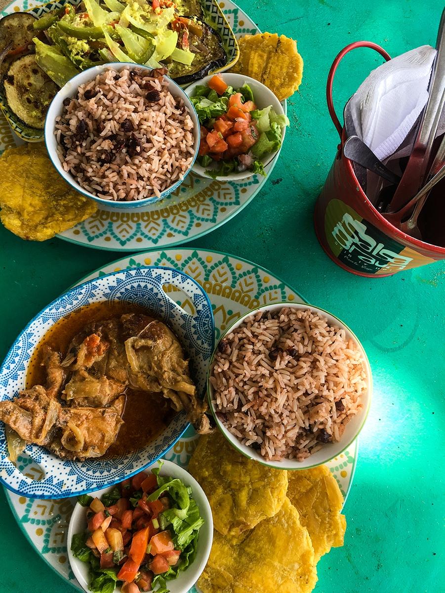 Caribbean food in Costa Rica